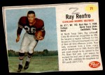 1962 Post #71  Ray Renfro  Front Thumbnail