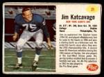 1962 Post #21  Jim Katcavage  Front Thumbnail