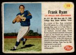 1962 Post #172  Frank Ryan  Front Thumbnail