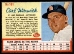 1962 Post #161  Carl Warwick   Front Thumbnail