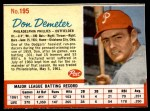 1962 Post #195  Don Demeter   Front Thumbnail