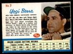 1962 Post #7  Yogi Berra   Front Thumbnail