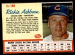 1962 Post #186  Richie Ashburn   Front Thumbnail