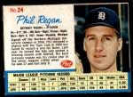 1962 Post #24  Phil Regan   Front Thumbnail