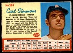 1962 Post #167  Curt Simmons   Front Thumbnail