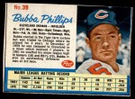 1962 Post #39  Bubba Phillips   Front Thumbnail