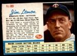 1962 Post #89  Jim Lemon   Front Thumbnail