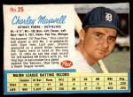 1962 Post #25  Charley Maxwell   Front Thumbnail