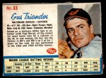 1962 Post #33  Gus Triandos   Front Thumbnail