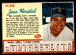 1962 Post #140  Juan Marichal   Front Thumbnail