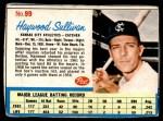 1962 Post #99  Haywood Sullivan   Front Thumbnail