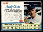1962 Post #52  Andy Carey   Front Thumbnail