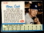 1962 Post #14 LFT Norm Cash  Front Thumbnail