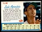 1962 Post #49  Luis Aparicio   Front Thumbnail
