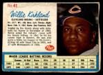 1962 Post #41  Willie Kirkland   Front Thumbnail
