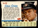 1962 Post #72  Gene Green   Front Thumbnail