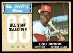 1968 Topps #372   -  Lou Brock All-Star Front Thumbnail