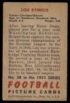 1951 Bowman #38  Lou Rymkus  Back Thumbnail