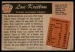 1955 Bowman #108  Lou Kretlow  Back Thumbnail