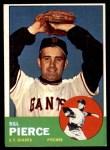 1963 Topps #50  Bill Pierce  Front Thumbnail
