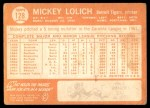 1964 Topps #128  Mickey Lolich  Back Thumbnail