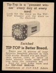 1947 Tip Top Bread  Dizzy Trout  Back Thumbnail