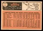 1966 Topps #397  Bill White  Back Thumbnail