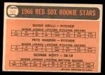 1966 Topps #558   -  George Scott / Guido Grilli / Pete Magrini Red Sox Rookies Back Thumbnail