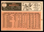 1966 Topps #570  Art Mahaffey  Back Thumbnail