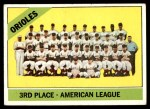 1966 Topps #348   Orioles Team Front Thumbnail