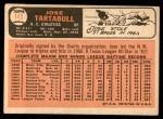 1966 Topps #143  Jose Tartabull  Back Thumbnail