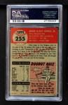 1953 Topps #255  Dixie Howell  Back Thumbnail