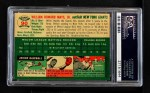 1954 Topps #90  Willie Mays  Back Thumbnail