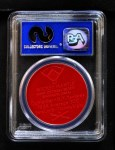 1955 Armour Coins #13 RED ERR Mickey Mantle  Back Thumbnail