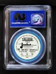 1963 Salada Metal Coins #56  Mickey Mantle  Back Thumbnail
