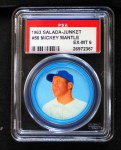 1963 Salada Metal Coins #56  Mickey Mantle  Front Thumbnail
