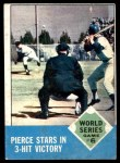 1963 Topps #147   -  Billy Pierce 1962 World Series - Game #6 - Pierce Stars in 3-Hit Victory Front Thumbnail