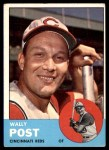 1963 Topps #462  Wally Post  Front Thumbnail