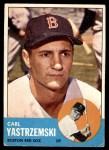 1963 Topps #115  Carl Yastrzemski  Front Thumbnail