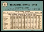 1965 Topps #426   Braves Team Back Thumbnail