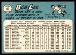 1965 Topps #46  Bob Lee  Back Thumbnail