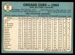 1965 Topps #91   Cubs Team Back Thumbnail