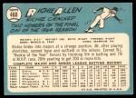 1965 Topps #460  Rich Allen  Back Thumbnail