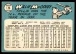 1965 Topps #176  Willie McCovey  Back Thumbnail