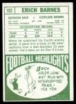 1968 Topps #102  Erich Barnes  Back Thumbnail