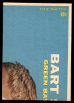 1968 Topps #168  Fred Biletnikoff  Back Thumbnail