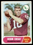 1968 Topps #110  Norm Snead  Front Thumbnail
