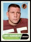 1968 Topps #62  Chris Hanburger  Front Thumbnail