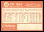 1964 Topps #501  Bob Veale  Back Thumbnail