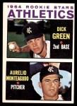 1964 Topps #466   -  Dick Green / Aurelio Monteagudo Athletics Rookies Front Thumbnail